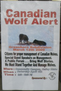 Poster displayed in front window of Hailey Les Schwab store