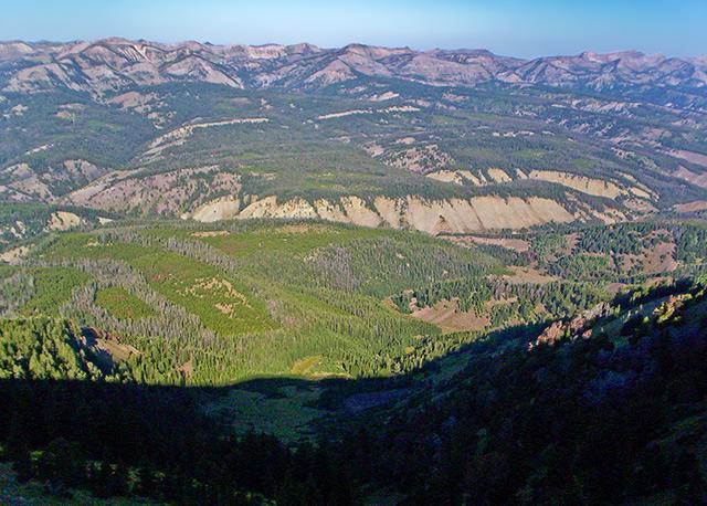 West from Wyoming Peak