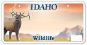 Idaho Elk License Plate